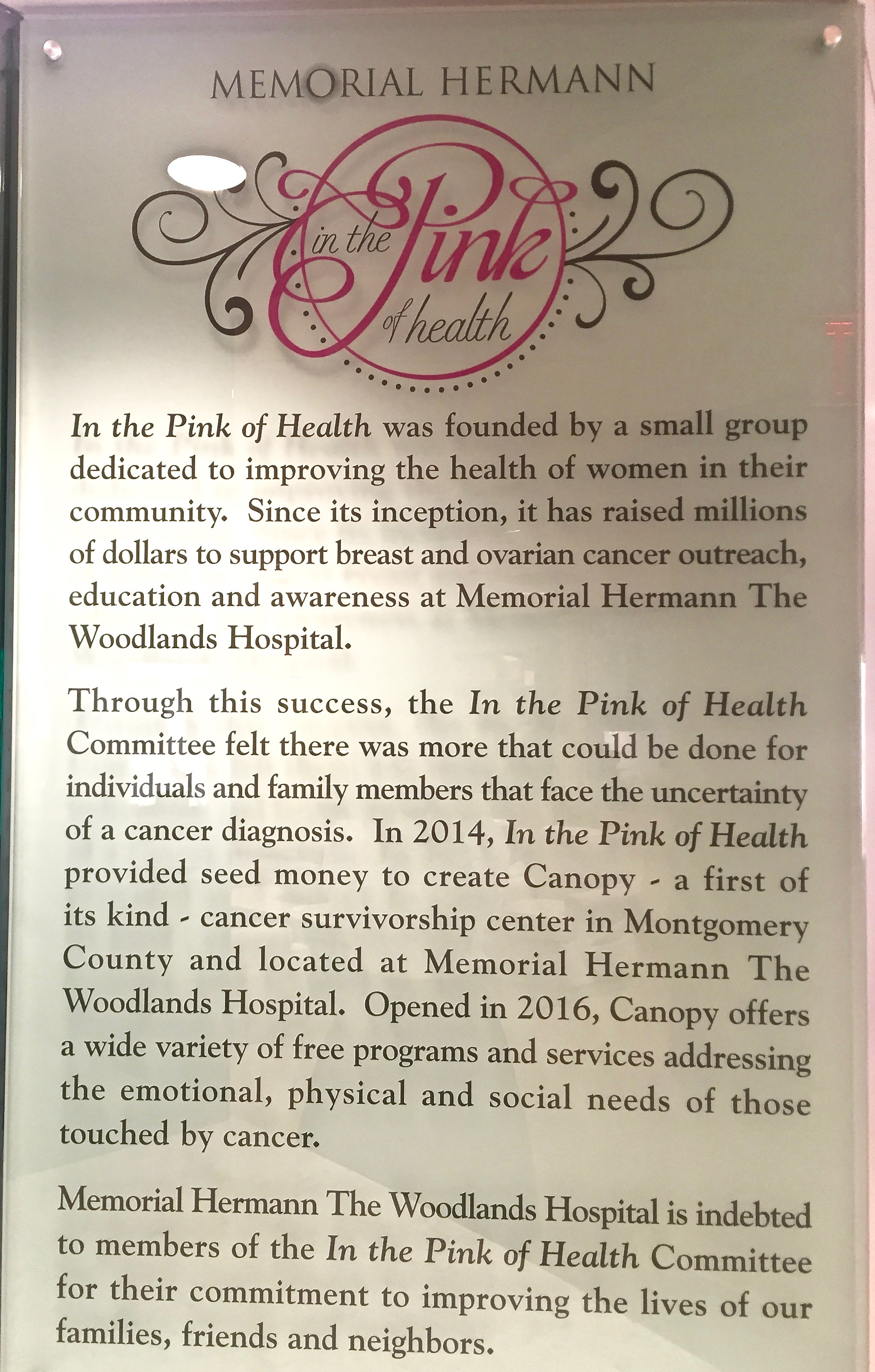 Judy's Mission » Introducing Canopy, The Woodlands' First